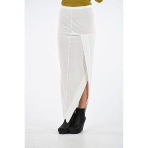 RICK OWENS New 40 US 6 Lilies Skirt With Lateral Split In Milk Defect